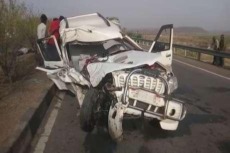 शादी समारोह में जा रहा इंदौर का परिवार हादसे का शिकार, ड्राइवर की मौत