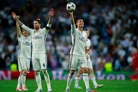 Champions League : रोनाल्डो की हैट्रिक, बायर्न को हरा सेमीफाइनल में रियाल मेड्रिड