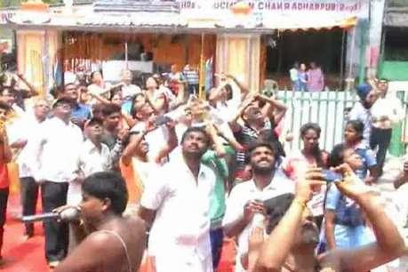 भगवान वेंकेटेश्वर मंदिर ब्रह्मोत्सव कार्यक्रम : गरुड़ देव के पूजन के बाद साक्षात गरुड़ दर्शन लाभ
