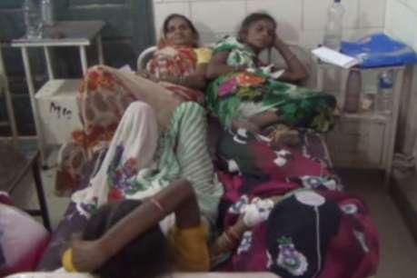 विदिशा में एक पलंग पर 6 से 7 मरीज़ करा रहे इलाज