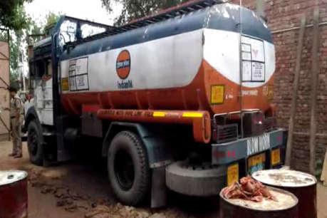 पुलिस और एसओजी की छापेमारी में सैकड़ों लीटर पेट्रोल- डीजल बरामद