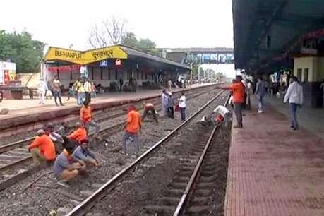 बुरहानपुर रेलवे स्टेशन पर पानी भरने गया युवक ट्रेन की चपेट में आया, मौत