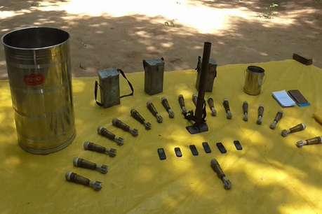लोहरदगा में केरार के जंगल में नक्सलियों ने छिपाया था तबाही का सामान