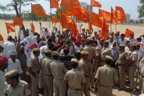 राजस्थान में किसानों का आंदोलन हुआ आक्रामक, जयपुर में गिरफ्तारियां