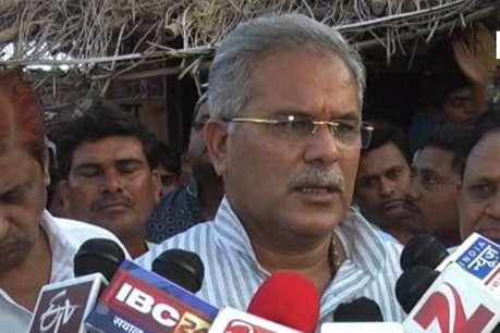 भूपेश बघेल ने किसान के परिजनों से मुलाकात कर आत्महत्या का कारण पूछा