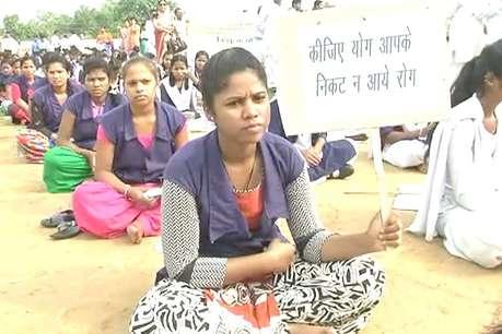 अंतरराष्ट्रीय योग दिवस के मौके पर एक दिन पहले जगदलपुर में निकाली गई सद्भावना रैली