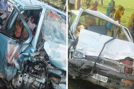 उन्नाव: कार की आमने-सामने टक्कर में 3 लोगों की दर्दनाक मौत