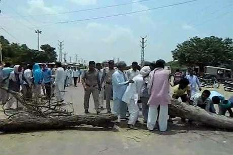 चूरू जिले में 4000 किसानों ने 23 स्थानों पर किया रास्ता जाम