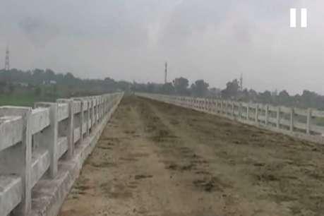 पांच साल से नहीं बना अप्रोच रोड, पुल है तैयार