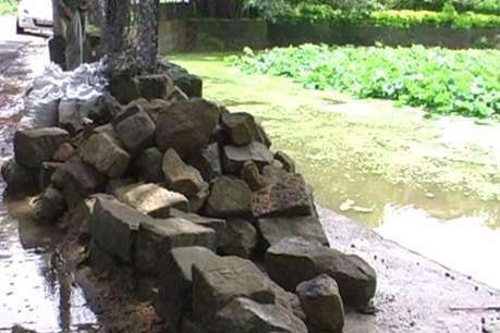 नाहन में तालाब के सौंदर्यीकरण का काम हादसों को दे रहा न्योता