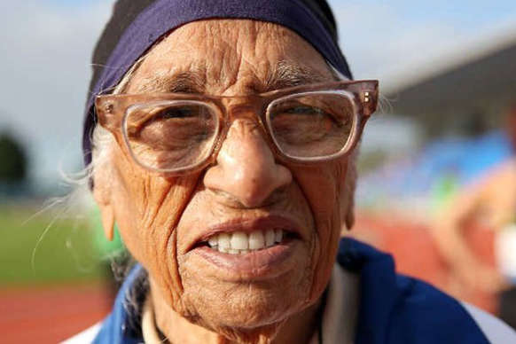 101-year-old,breaks,world,record,Auckland,वर्षीय मान,कौर,कारनामा,उम्रदराज़ एथलीट