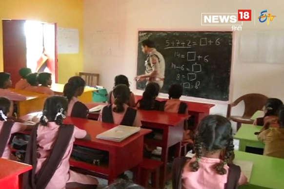 'IG के स्कूल' में बच्चों को पढ़वाने के लिए फरियाद कर रहे अभिवावक