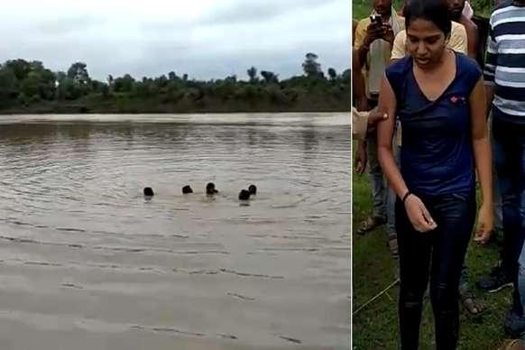 VIDEO: सेल्फी लेते हुए नदी में गिरी लड़की, फिर...