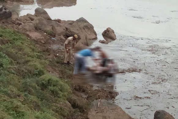 जबलपुर: नाले ने फिर उगली लाश, जांच में जुटी पुलिस