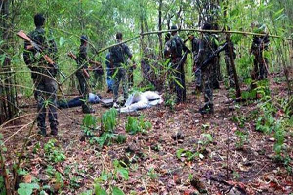 पुलिस के साथ मुठभेड़ में 7 नक्सली ढेर, 2 इंसास राइफल और अन्य हथियार बरामद