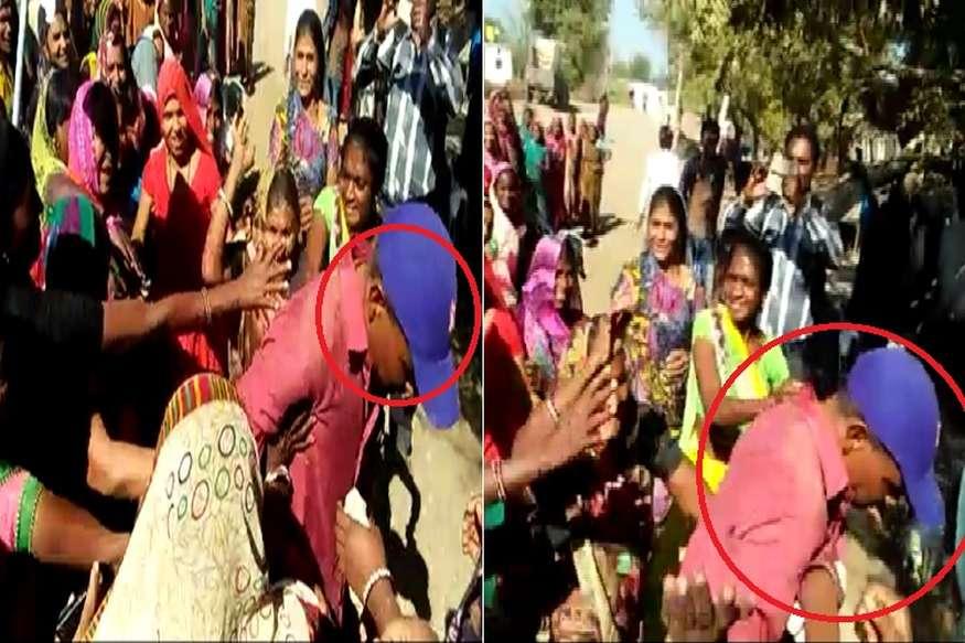 शराबबंदी की रैली में टल्ली होकर पहुंचा बीजेपी नेता, महिलाओं ने कर दी पिटाई