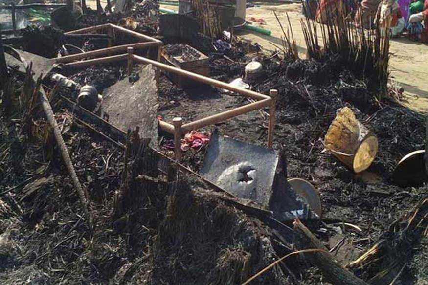 सोते हुए झोपड़ी में लगी आग, चार बच्चों की झुलसकर मौत