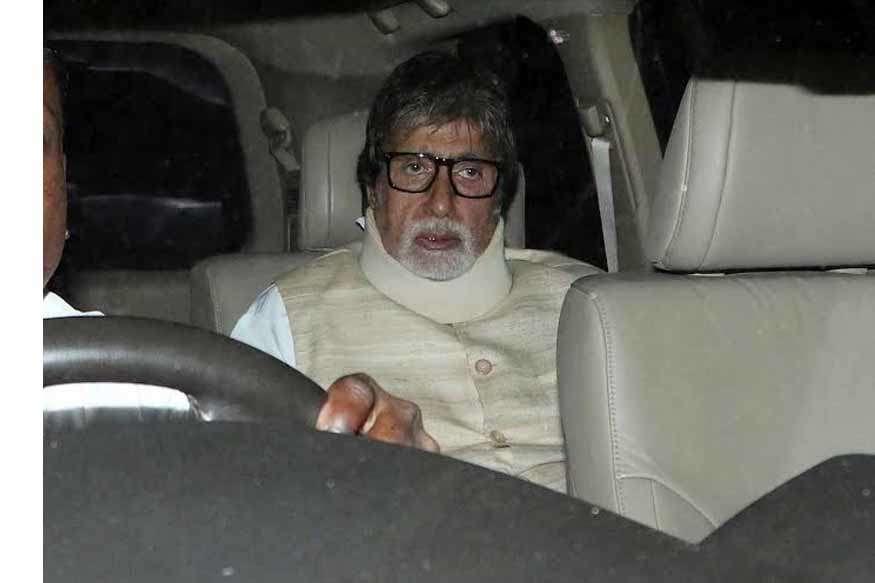 अमिताभ बच्चन परेशान हैं गर्दन में दर्द से