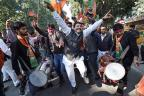Celebrations at BJP HQ Over Gujarat, Himachal Pradesh Results