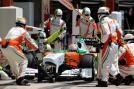 The debut season for Force India in 2008 was a disappointing one as their drivers Giancarlo Fisichella and Adrian Sutil could not help themselves to a single point. (Getty Images)