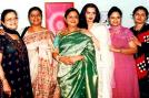 Unlike the usual perception about step siblings, Rekha and her clan bonds well.   <br><br> (L-R)Revathi Swaminathan (Doctor), Narayani Ganesan (Journalist), Kamala Selvaraj (Doctor), Rekha (Actress), Vijaya Chamundeswari (Fitness expert) and Dr Jaya Shreedhar (Health advisor).