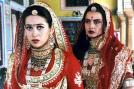 Karisma Kapoor and Rekha in a still from the movie 'Zubeidaa'.