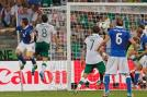 Antonio Cassano scores a goal to give Italy 1-0 lead over Ireland. (AP Photo)