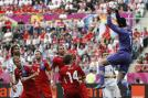 Czech goalkeeper Petr Cech in action during their Euro 2012 match against Greece. (AP Photo)