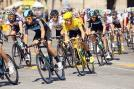 Bradley Wiggins flanked by teammates during the final stage of the 2012 Tour de France. (Getty Images)