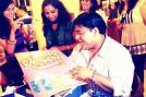 Television actor Ram Kapoor celebrates his birthday with his fans.