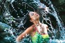 Karishma Kotak poses for the Kingfisher swimsuit calendar 2006.
