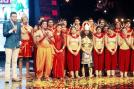 Host Cyrus Sahukar with the contestants during the shooting of 'India's Got Talent'.
