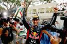 Red Bull's Mark Webber won the Monaco GP for the second time in three years from Nico Rosberg and Fernando Alonso.  (Getty Images)