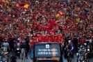 Spain successfully defended their Euro title to add to their World Cup trophy, drawing comparisons with the legendary Pele's invincible Brazil. They beat beat Italy 4-0 in the final on July 1.