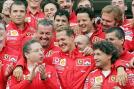 Schumacher moved to Ferrari in 1996 and won another five consecutive drivers' titles with them from 2000 to 2004. (Getty Images)
