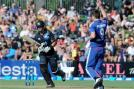 James Anderson celebrates the wicket of Ross Taylor Anderson picked up five wickets in the match. (AP Photo)