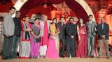 The entire cast of Sanjay Leela Bhansali's 'Saraswatichandra' pose for the camera at the event.