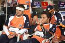 Mahesh Manjrekar and Riteish Deshmukh at the CCL match between the Veer Marathi and Mumbai Heroes.