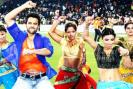Nargis Fakhri and Genelia D'Souza were among the Bollywood stars present at the CCL match between the Veer Marathi and Mumbai Heroes. Jackky Bhagnani did a Gangnam style performance.
