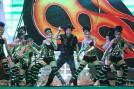 Shah Rukh Khan performs during the Pepsi Indian Premier League opening ceremony held at the Salt Lake Stadium in Kolkata on the April 2 2013.