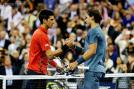 Rafael Nadal shakes hands with Novak Djokovic after the spainard won the men's singles final match 6-2 3-6 6-4 6-1. (Getty Images)