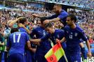 Italy players celebrate after Chiellini gave 1-0 lead in the match. (Photo Credit: Getty Images)