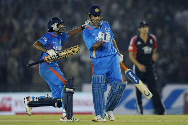 India answered England's sledging tactics by winning the ODI series in Mohali on Thursday.