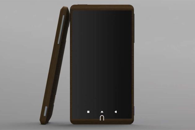 Designer phone: The bamboo-clad Android smartphone 'ADzero'
