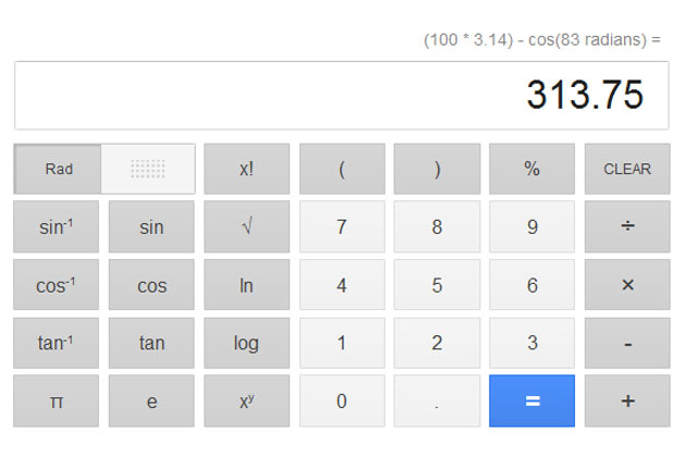 Calculator google
