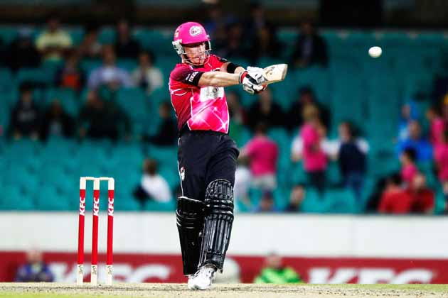 Moises Henriques' scintillating all-round performance powered Sydney Sixers to a 14-run victory over Chennai Super Kings.