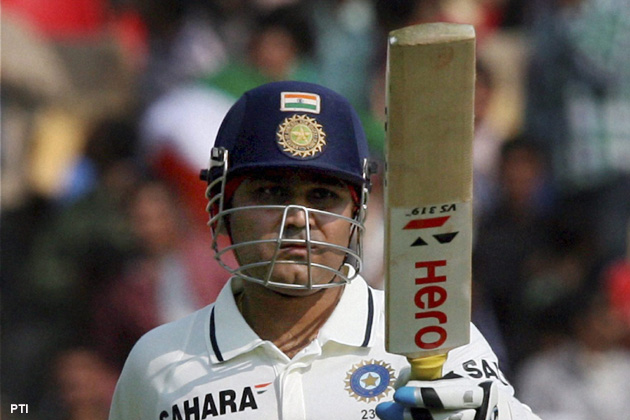 India's greatest second-innings batsman on watching Virender Sehwag – who will play his 100th Test in Mumbai – from up close and personal.