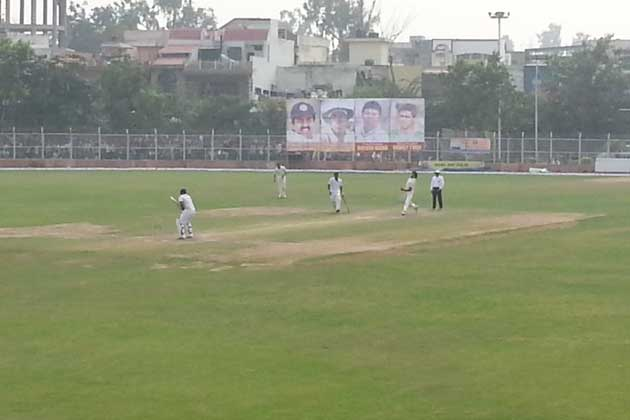 Delhi were reduced to 60 for 3 at stumps after dismissing Maharashtra for 196 on a green-top Roshanara Club wicket.