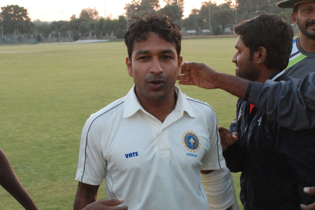 After a brilliant unbeaten 199 by opener VA Jagadeesh, Services posted 84 for 2 at stumps after losing two early wickets.