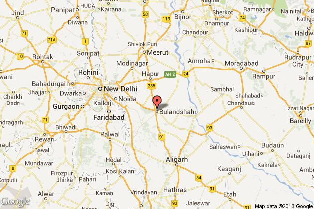 Two Women Killed Four Injured As Wall Collapses In Bulandshahr - Bulandshahr map